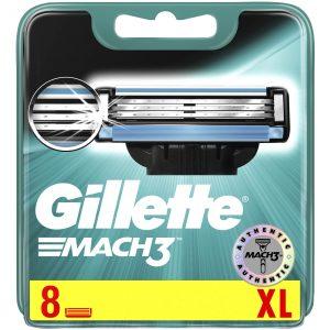 Gillette Mach3 Mens Shaving Razor Blades (8 Pack Refill Cartidges)