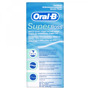 Oral B Super Floss Mint 50CT (6 Packs)