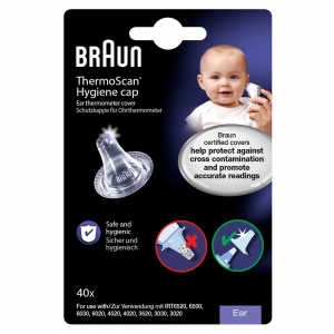 Braun Thermoscan Lens Filters for Ear Thermometers, Pack of 40