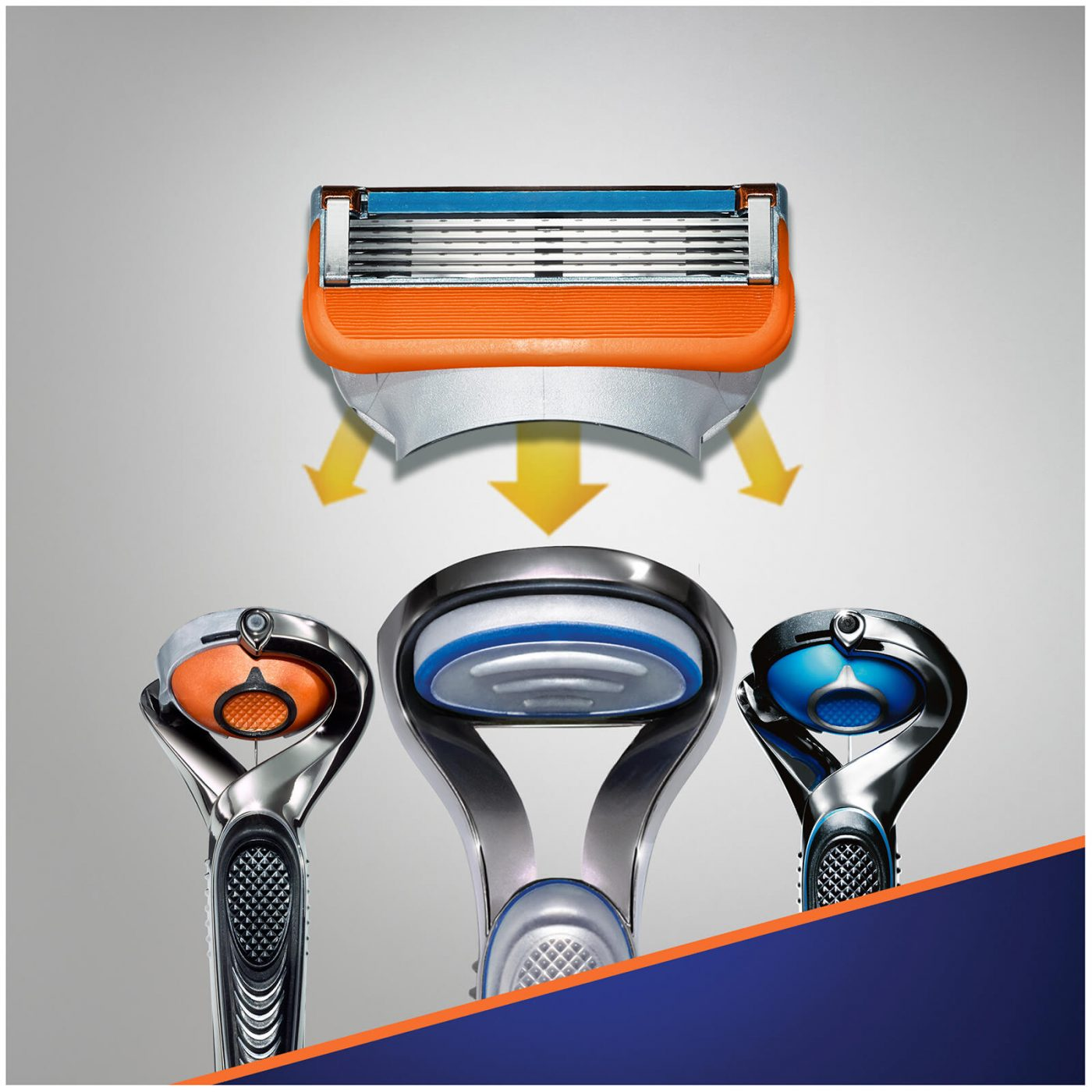 Gillette Fusion Mens Shaving Razor Blades (8 Pack Refill Cartridges)