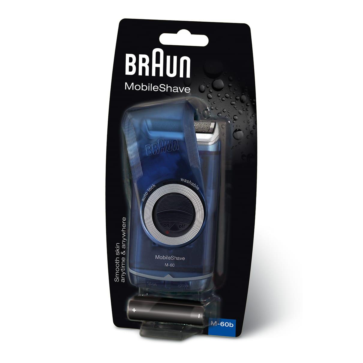 Braun MobileShave M-60 Portable Mens Shaver  (Transparent Blue)