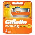Gillette Fusion Power Mens Shaving Blades - 4 Pack Refill