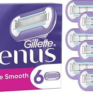 Gillette Venus Smooth Swirl Womens Razor Blades - 6 Pack