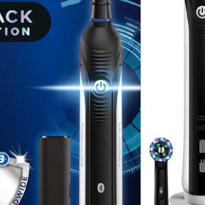 Oral-B Smart 4 4500 Cross Action Black Electric Toothbrush with Travel Case